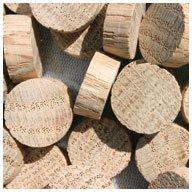 WIDGETCO 5/8'' Oak Wood Plugs, End Grain