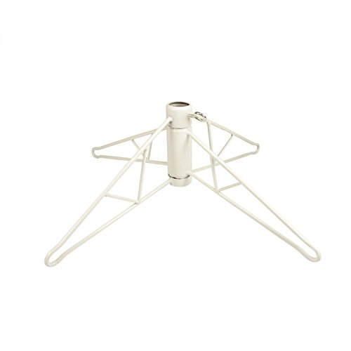 Vickerman White Metal Christmas Tree Stand For 12' - 15' Artificial Trees by Vickerman