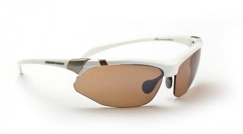 Copper Golf Sunglasses - Optic Nerve Hermosa Sunglasses, 2 Sets (Shiny White, Smoke/Copper)