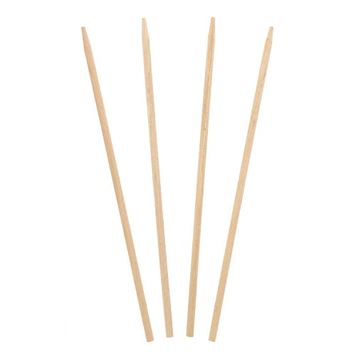 "Royal 8.5"" x 3/16"" Thick Wood Skewers for Grilling Meat,"