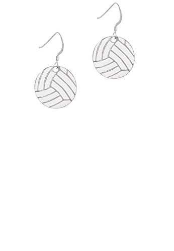 3/4' Carded (3/4'' Enamel Volleyball - French Earrings)