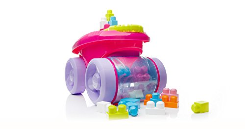 Mega Bloks First Builders Block Scooping Wagon Vehicle (Scooping Wagon, (Mega Blocks Wagon)
