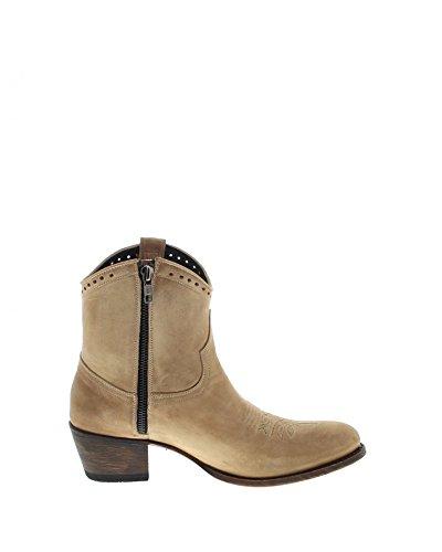 Sendra Boots Marta 14902 Beige Lavado / Ladies Fashion Stivali Beige / Stivali / Ballo Delle Donne / Occidentale Profondo Beige Lettering Lavado