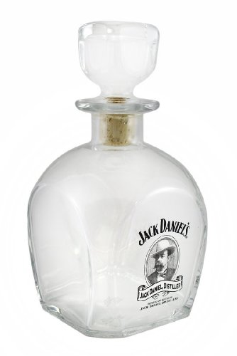 Jack-Daniels-Cameo-Design-Glass-Whiskey-Decanter
