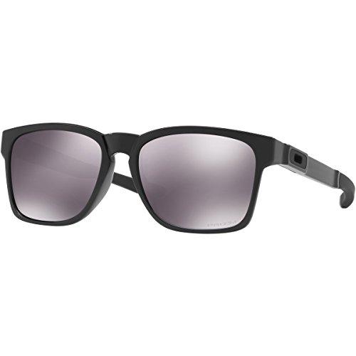 Oakley Men's Catalyst Non-Polarized Iridium Rectangular Sunglasses, Polished Black, 55.01 - Sunglasses Oversized Oakley