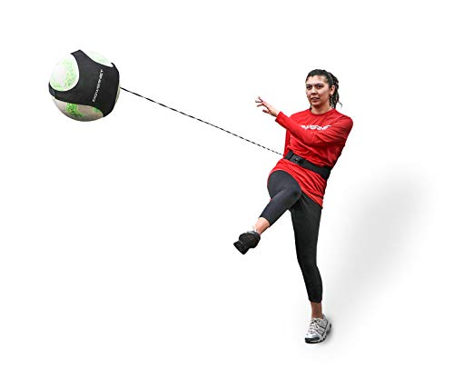 PowerNet Soccer Solo Trainer | Fits Size 3, 4 or 5 Balls | Adjustable Waist Attachment | Great for Goalkeeper and Great for Goalkeeper Punt, Catching and Receiving Control - Training Soccer Goalkeeper Ball