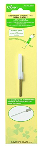 Clover Embroidery Stitching Tool Needle Refill-Single Ply Needle Refill Single