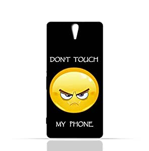 Sony Experia C5 TPU Silicone Case with with Dont Touch My Phone 1
