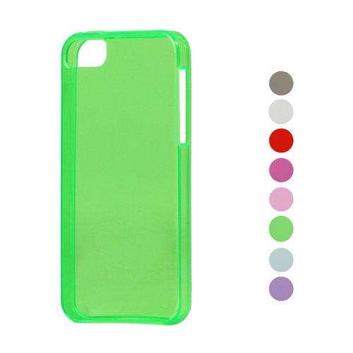 iProtect TPU Schutzhülle iPhone 5 / 5s Hülle transparent glossy grün