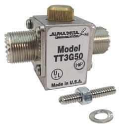 Alpha Delta Original ATT3G50U Coaxial Surge Protector; Frequency: DC-3GHz; 200W; Connector: SO-239