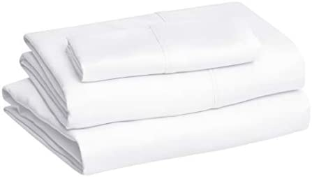 Amazon Basics Microfiber Sheet Set, Twin, Bright White
