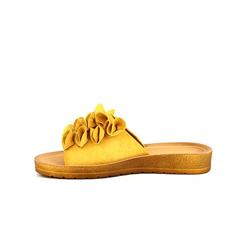 Color Chaussures Cendriyon Moutarde Jaune Mule Liloo Femme 7xxaSnv