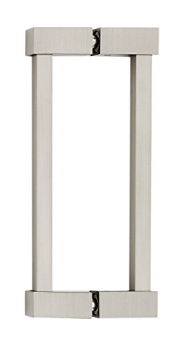 (Alno G718-6-SN Contemporary II Modern Back-To-Back Pull, Satin Nickel)