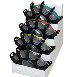 Cando Digi-Extend Finger Exerciser Digi-Extend Set of 4 with Display Rack- 1 Each by Cando