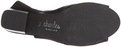 Charles Door Charles David Dames Yanna Slide Sandaal Zwart