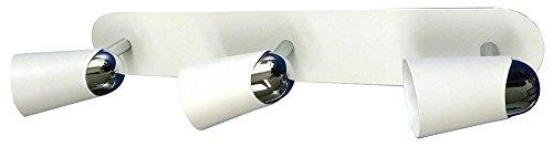 PRO ELEC - Triple Bar GU10 Spotlight Fitting, White New