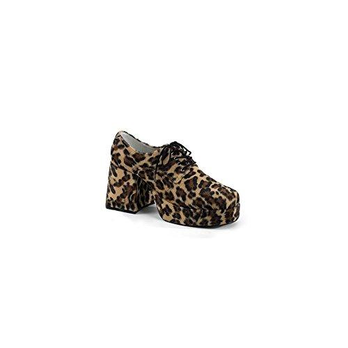 In Stock Jazz Costumes (Funtasma by Pleaser Men's Jazz-02 Platform Oxford,S,Brown Cheetah Fur)