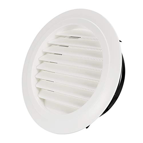 Hon&Guan 8'' Air Vent Louver Air Grill Cover for Bathroom Office Home (ø200mm) ()