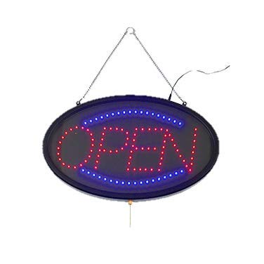 LED Sign''Open'' 3 Flash Pattern