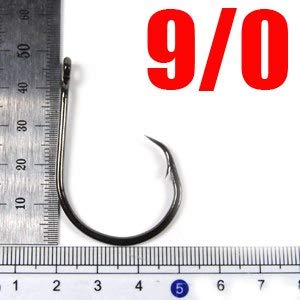 CUSHY 50pcs Circle for Fishing HighSteel Soltwater Fish 1 1 0 2 0 3 0 4 0 5 0 6 0 7 0 8 0 9 0 10 0 Sea Fish  50pcs Size 9I0
