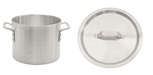 HEAVY DUTY ALUMINUM STOCK POT, 6MM INDUSTRIAL STRENGTH LOOP HANDLES 8qt to 100qt (50 (50 Quart Stock Pot)