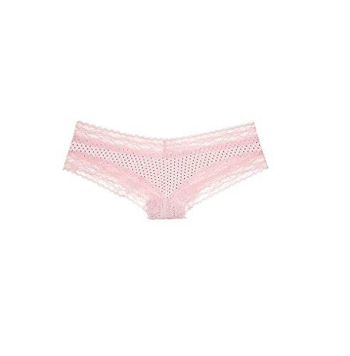 b4c55971f0b07 Victoria s Secret Cotton Lingerie Lace-waist Cheeky Panties - M - Pink  Little Dot Print