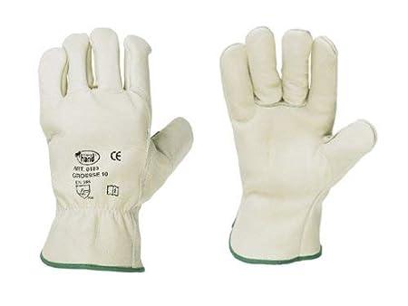 tailles: 9 Winter Gants de cuir de vache complet avec Molton handsch uhman 11/+ 1/paire de protection auditive Bouchon