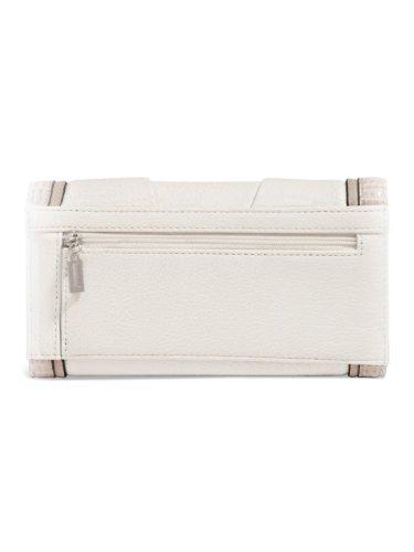G by GUESS Women's Aileana Slim Wallet, WHITE MULTI