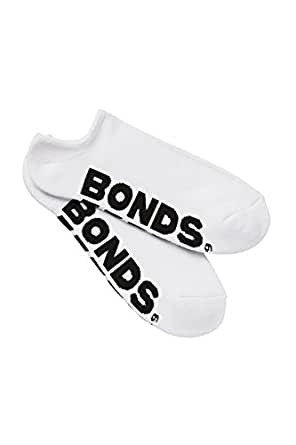 Bonds Men's Cotton Blend Logo No Show Sport Socks (3 Pack)