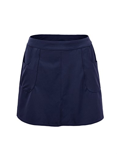 Hilor Women's UPF 50+ Swimsuit Bottom Skirt Athletic Cover up Tankini 22 Navy -