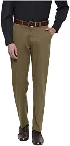 Ruan Men's Regular Fit Pants (TDLB34_Brown_34)