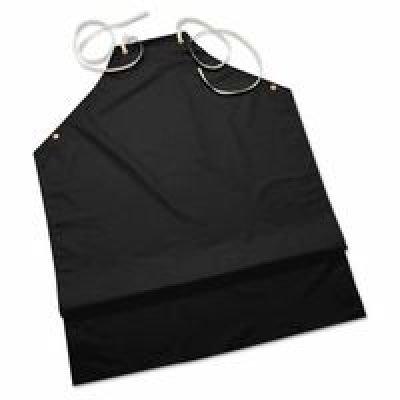 Chemical Resistant Black Hycar Nitrile Lab Apron with Cotton Backing, 35'' X 45'' by Kishigo