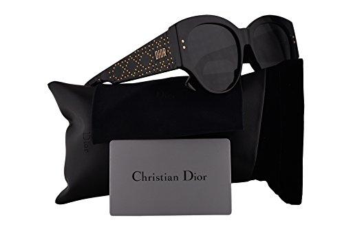 Christian Dior LadyDiorStuds2 Sunglasses Black w/Grey Lens 55mm 8072K LadyDiorStuds2/S Ladydiorstuds2 Lady Dior Studs 2 LadyDiorStuds ()