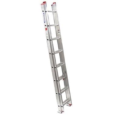 Werner D1116-2 200-Pound Duty Rating Aluminum Flat D-Rung Extension Ladder, 16-Foot