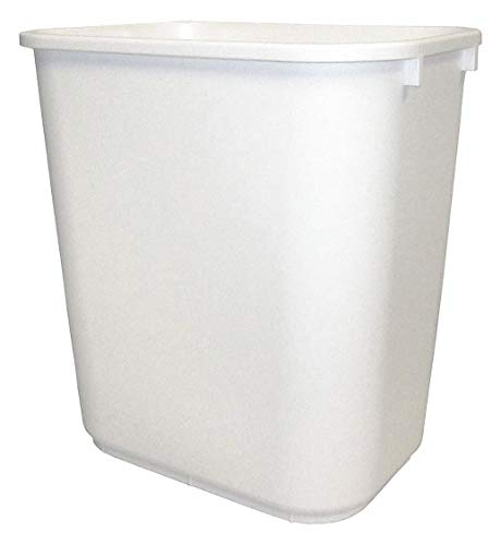 Tough Guy 7 gal. Rectangular White Trash Can