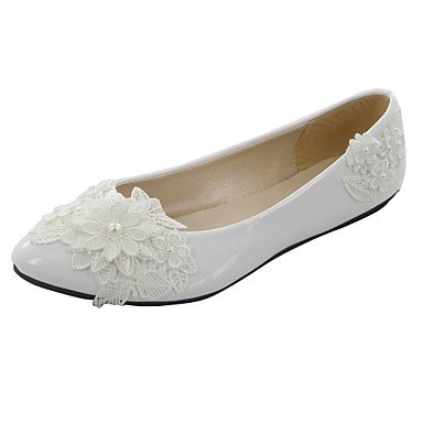 5 Toe CN37 US6 7 5 Wedding Heel EU37 Pointed Low 5 Shoes White UK4 Flats Women'S fCzqHFF