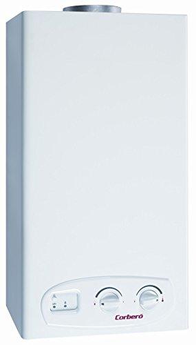 Corberó CCE11GB - Calentador electrónico a gas butano, 11 l, color blanco