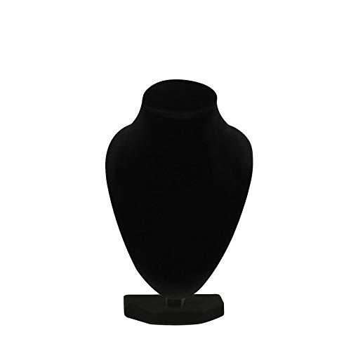 Pudincoco Durable Collar de maniqu/í Negro Joyero Colgante Soporte de exhibici/ón Mostrar Decorar Pulsera Organizador de joyer/ía Negro