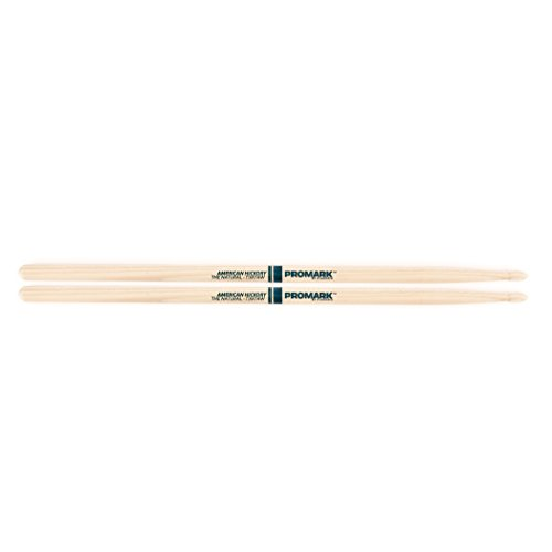 Promark TX7AW American Hickory Natural Wood Tip, Single Pair, - Mark Drumsticks Hickory Pro Natural