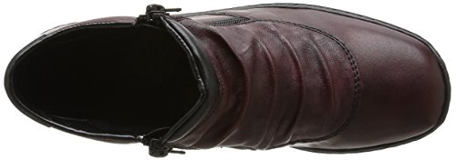 Rieker L6052 35 - Botas de cuero mujer Rojo - Rouge (Medoc/Burgund/Schwarz)