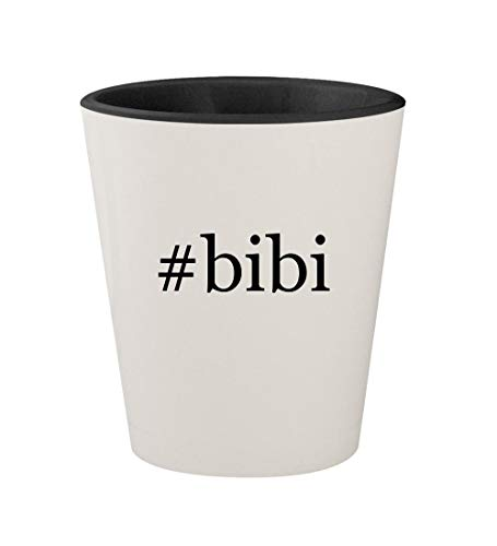 - #bibi - Ceramic Hashtag White Outer & Black Inner 1.5oz Shot Glass