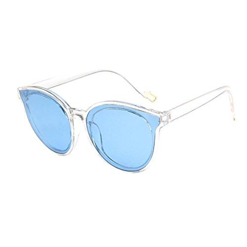 Trasparente da sole Occhiali Big Occhiali Vintage Colors sole Frame Scatola Adeshop Unisex da Outdoors Casual blu Eyewears 8 1ZFZUgqA