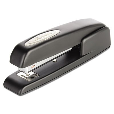 (747 Business Full Strip Desk Stapler, 25-Sheet Capacity, Black (3 Pack))