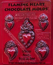 (Flaming Heart Chocolate Mold -Candy Making Mold)