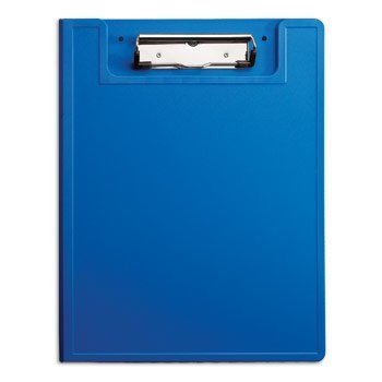 Carstens Privacy Clipboard with Low-Profile Clip (Pack of 1), Classroom, Office and Medical use (Blue)