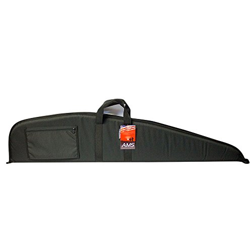 Tactical Black Scoped Rifle Case by American Mountain Supply With Pocket for Rifles With Scopes - Water Resistant 48in Long - Single