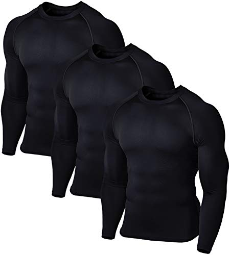 Defender Men's 3Pack Sports Compression T Shirt