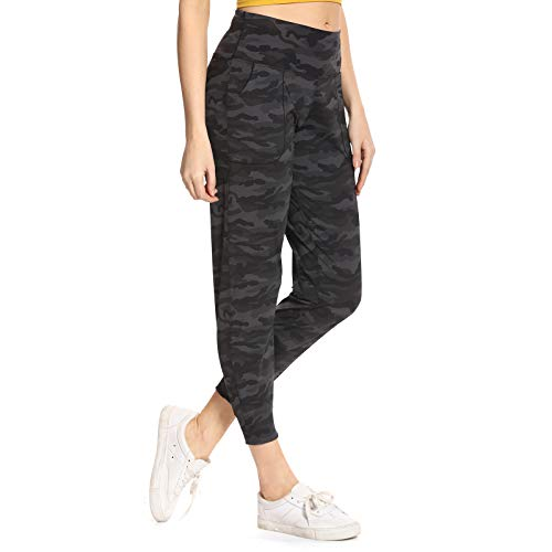 Ritiriko Women's Joggers with Pockets, High Waist Yoga Capri Pants for Running Workout Lounge