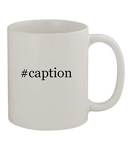 #caption - 11oz Sturdy Hashtag Ceramic Coffee Cup Mug, White