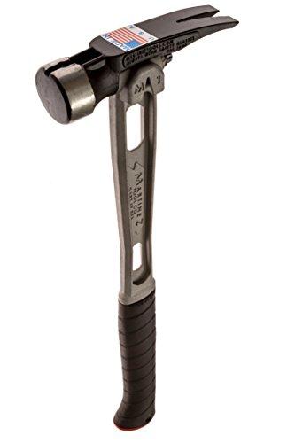 Martinez Tools M1 Titanium Handle 15oz Smooth Steel Head Curved Grip Framing Hammer by Martinez Tool Co.